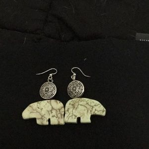 Jewelry - Native American inspired totem earrings/silvertone